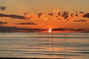 岩井海岸 夕日
